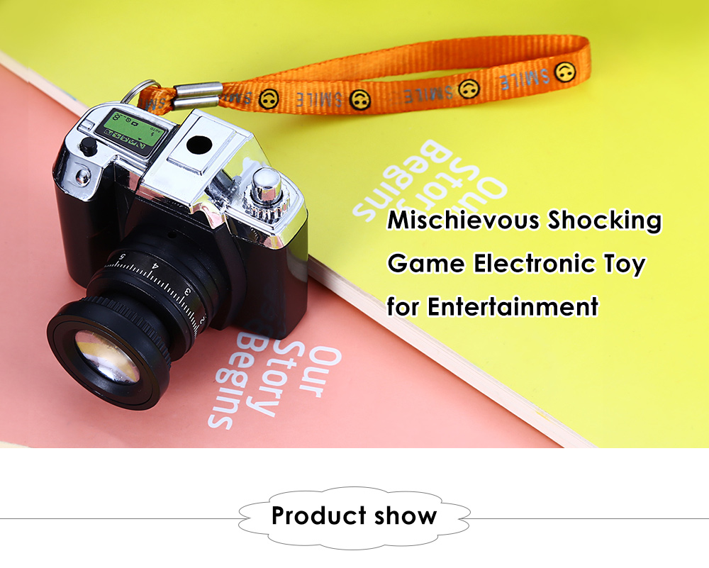 Practical Mischievous Shocking Camera Style Electronic Game Toy for Entertainment