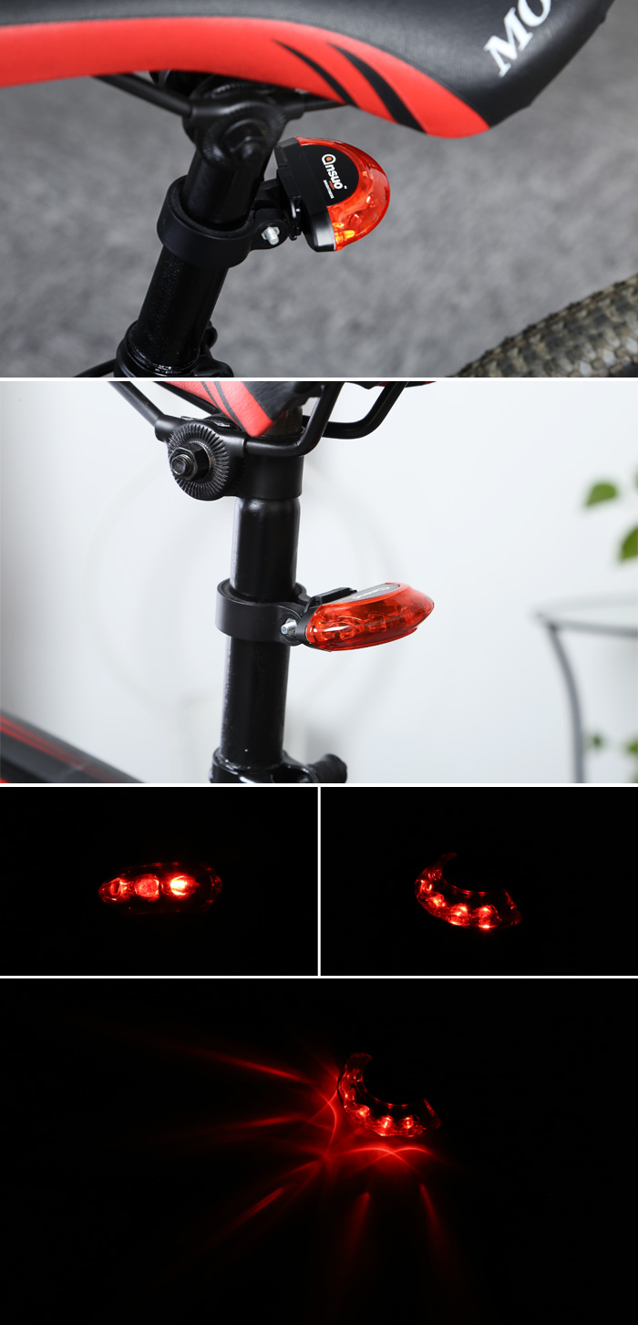Ansuo AZ - 108 5-LED Super Bright Bike Taillight Water-resistant Safety Warning Light