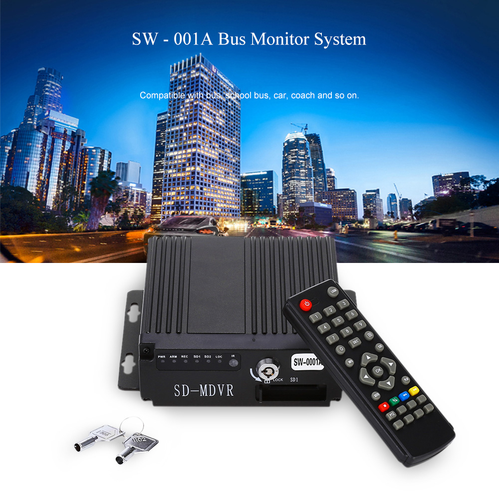 SW - 001A 720P Monitor System for Vehicles with G-sensor Function
