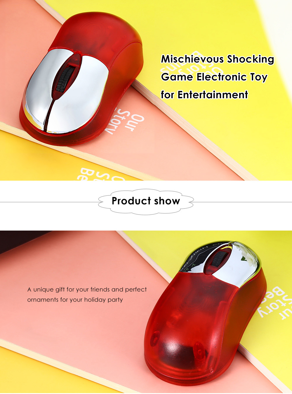 Practical Mouse Style Mischievous Multi-player Game Electronic Toy for Entertainment