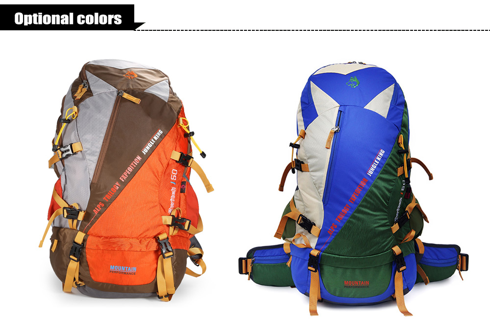 Hasky 1601 Water-resistant Nylon 50L Mountaineering Backpack Bag