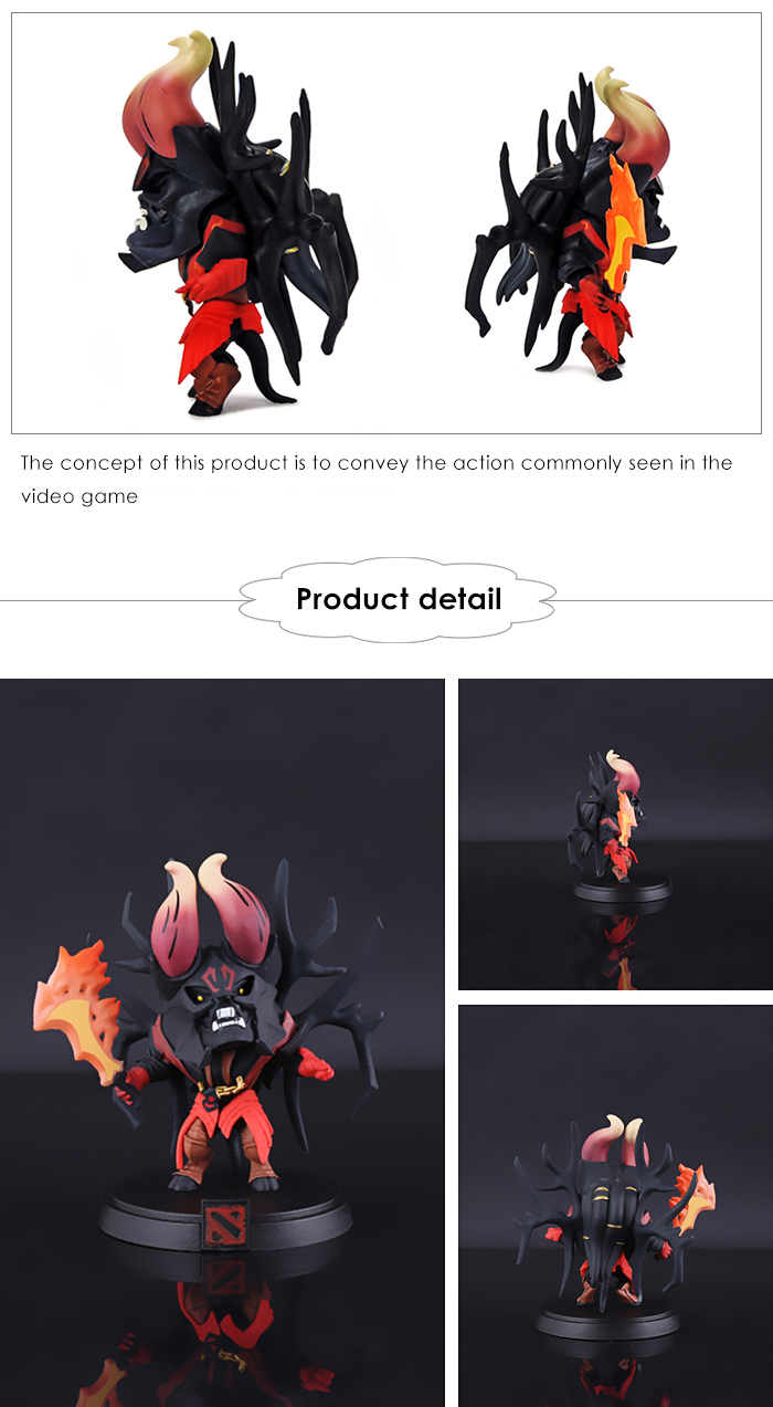3.14 inch ABS + PVC Action Figure Animation Collectible Figurine