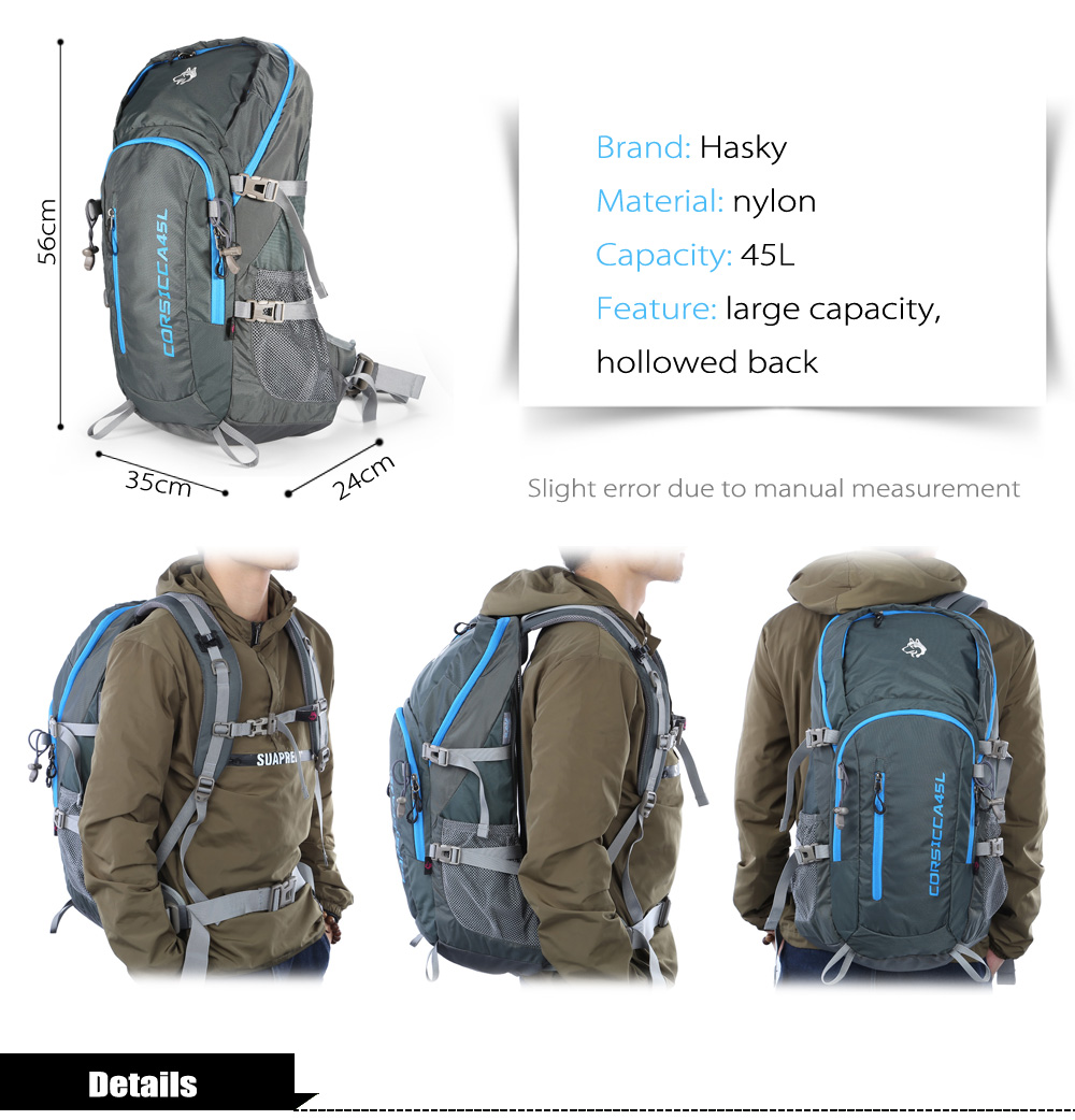 Hasky 9105 Water-resistant Nylon 45L Mountaineering Backpack Bag