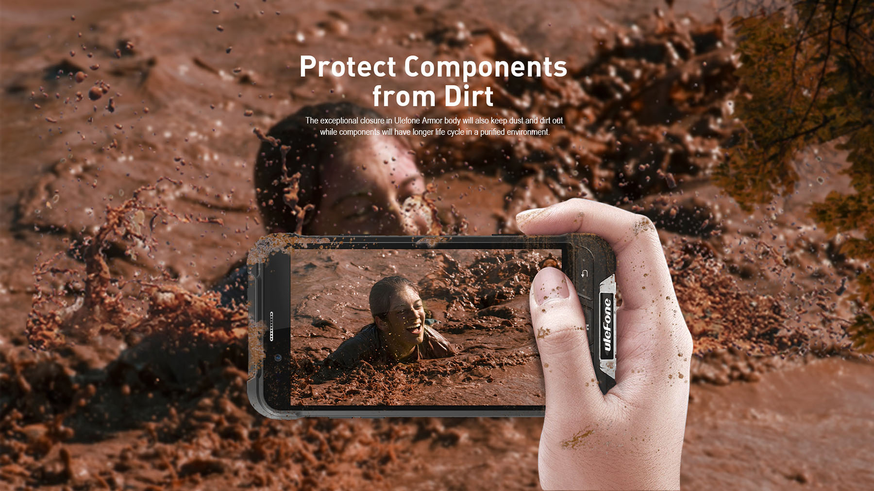 Ulefone ARMOR 4.7 inch 4G Smartphone Android 6.0 MTK6753 Octa Core 1.3GHz 3GB RAM 32GB ROM 5MP + 13MP Cameras IP68 Waterproof OTG NFC Corning Gorilla Glass 3