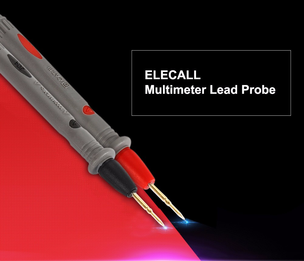 ELECALL Universal Multimeter Plated Lead Probe with Connector Cable for Testing