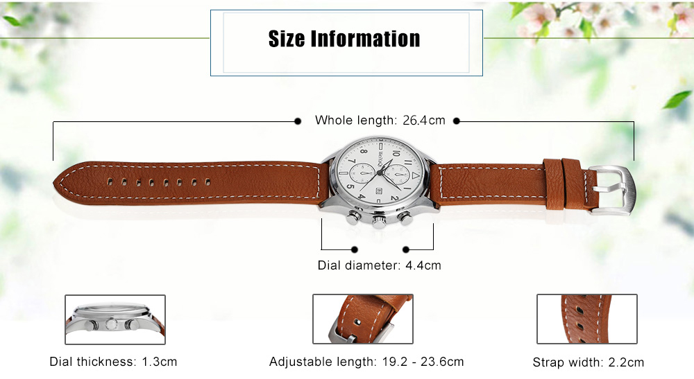 WeiYaQi 89018 Casual Male Numeral Scale Quartz Watch with Date Display