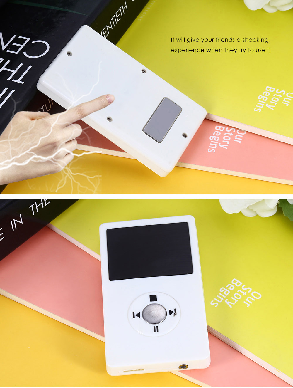 Practical Mischievous Shocking MP3 Style Electronic Toy for Entertainment
