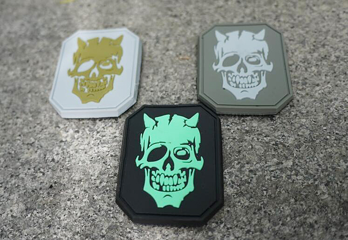 EDC Gear PVC Skull Armband Tactical Badge Cloth Sticker for CS Games