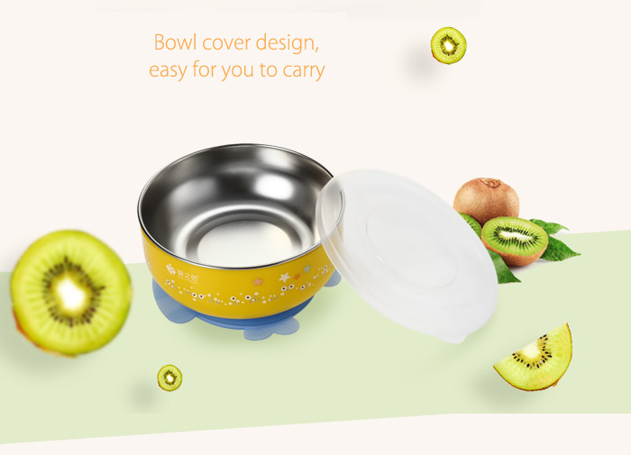 2PCS BabyMatee Baby Infant Bowl with Sealed Cover