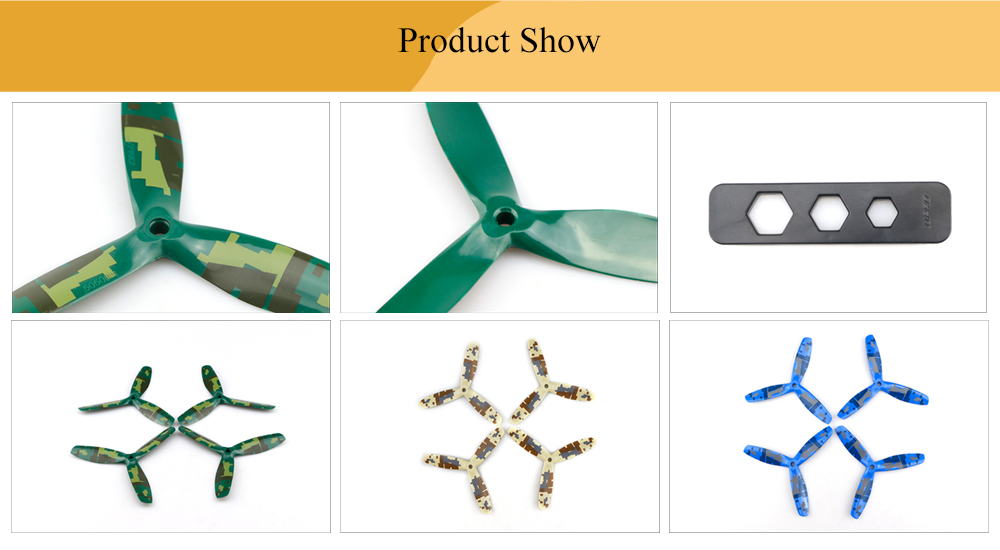 JJRC JJPRO - 5050 12pcs Three-blade Propellers with Camouflage Pattern
