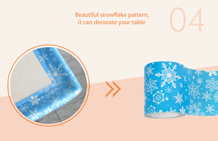 BabyMatee Snowflake Pattern Table Edge Cushion Set for Infant Baby