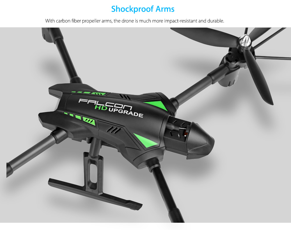 WLtoys Q323 - C RC Drone RTF with 2MP Camera 2.4GHz 6-axis Gyro Air Press Altitude Hold Headless Mode