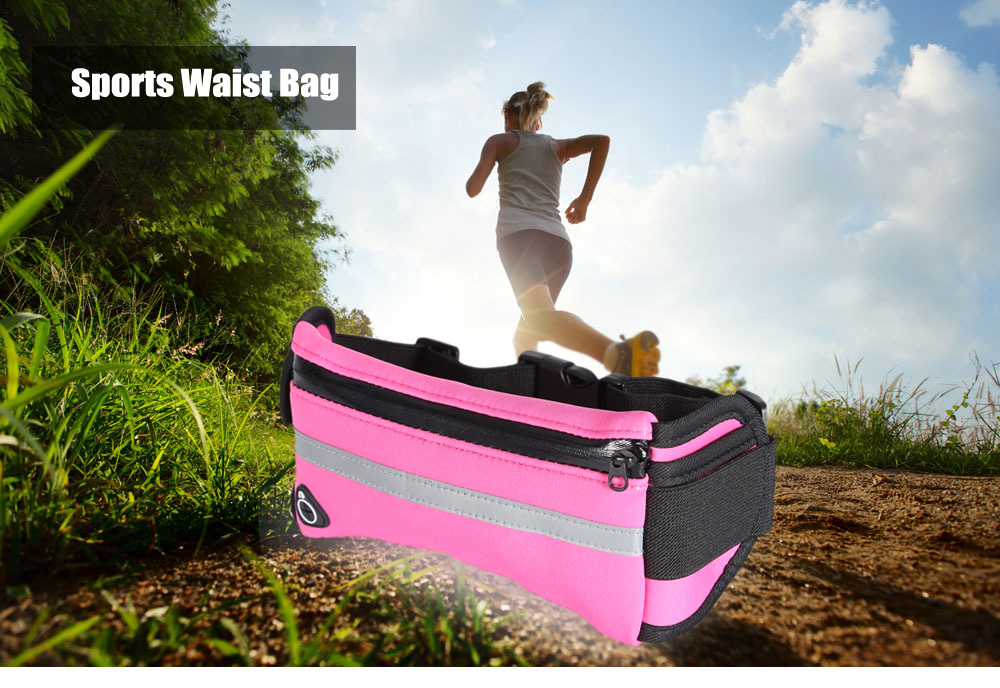 Water-resistant Sports Waist Bag with Earphone Cable Hole for 6 inch Mobile Phone