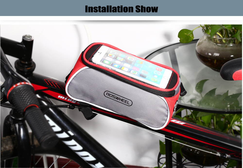 ROSWHEEL D12496 - X 6.0 inch 1.5L Touch Screen Bicycle Font Tube Bag Smart Phone Pouch Cycling Accessories