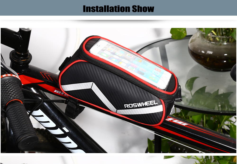 ROSWHEEL D12496 - PB 1.8L Touch Screen Bicycle Font Tube Bag Smart Phone Pouch Cycling Accessories