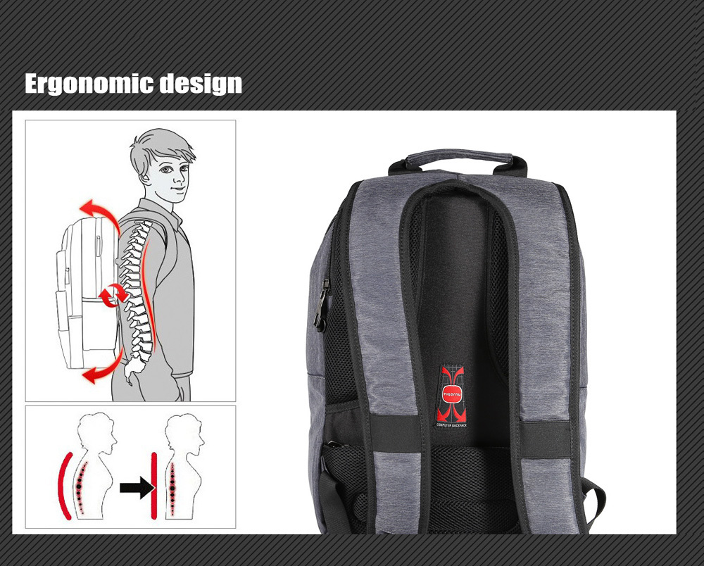 Tigernu T - B3176 Water-resistant Nylon 20L Business Backpack Bag for 14 inch Laptop