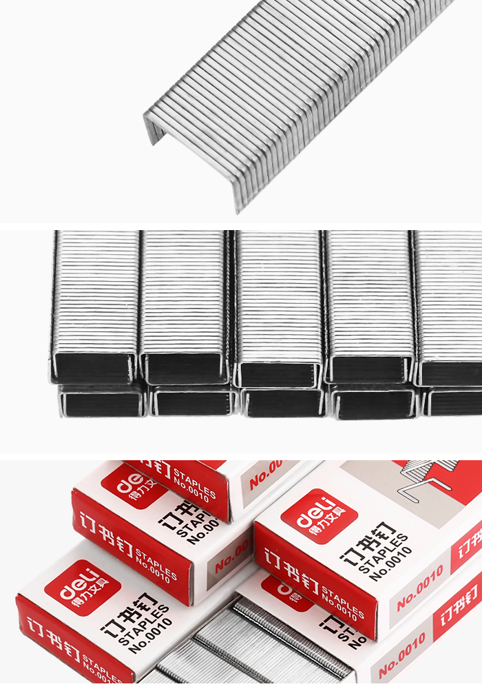 Deli 0010 Staple 5PCS for Office Study Stationery