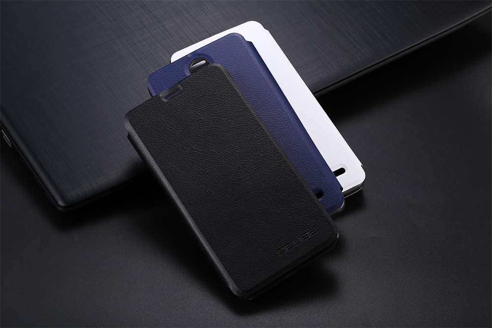 OCUBE PU Leather Full Body Phone Protective Case with Foldable Stand for LEAGOO M5 Plus