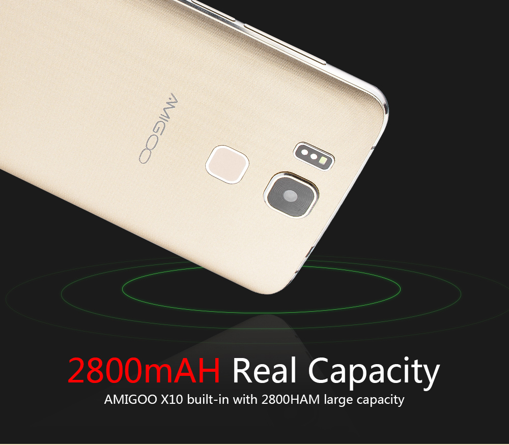 AMIGOO X10 Android 5.1 6.0 inch 3G Phablet MTK6580 1.3GHz Quad Core 8GB ROM Dual Cameras GPS