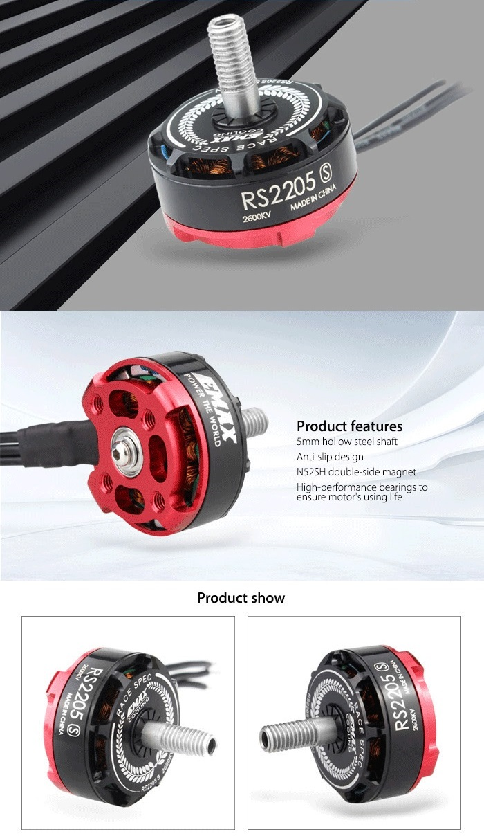 EMAX RS2205 - S 2600KV Racing Edition Brushless Motor for Multicopter