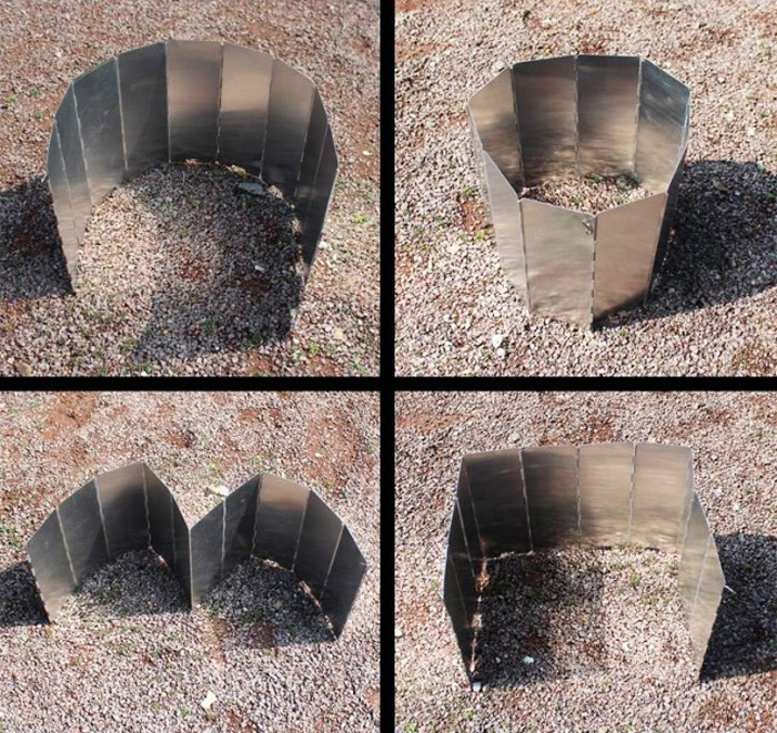10 Plates Outdoor Camping Aluminum Alloy Barge-board Folding Stoves Wind Board Wind Shield