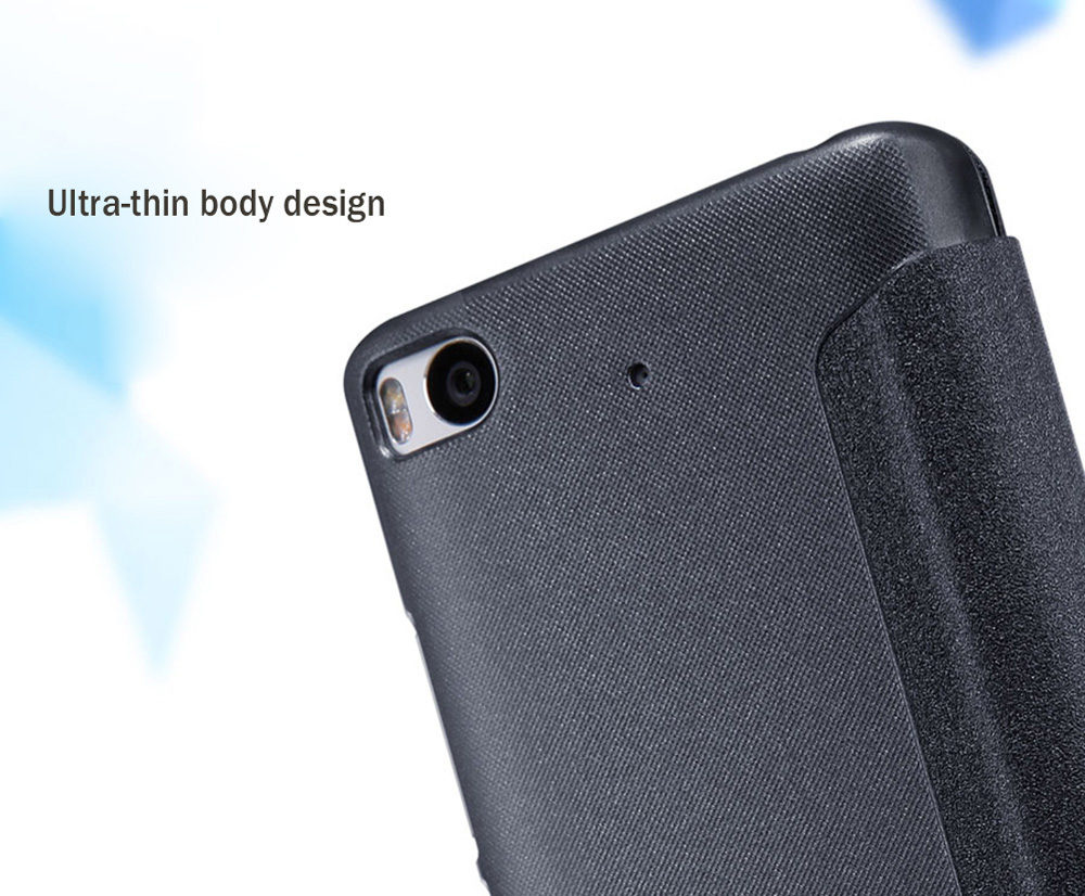 Nillkin Full Body Cover Frosted Protective Case for Xiaomi 5S Auto Wake-up Sleep Function PU Leather Mobile Shell View Window