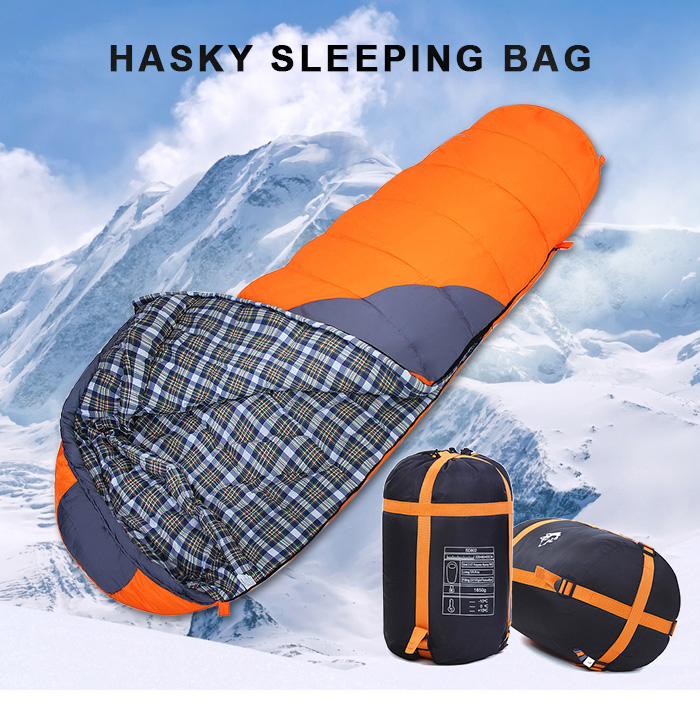 Hasky CY - 802 Mummy Style 1-person Sleeping Bag with Splicing Design