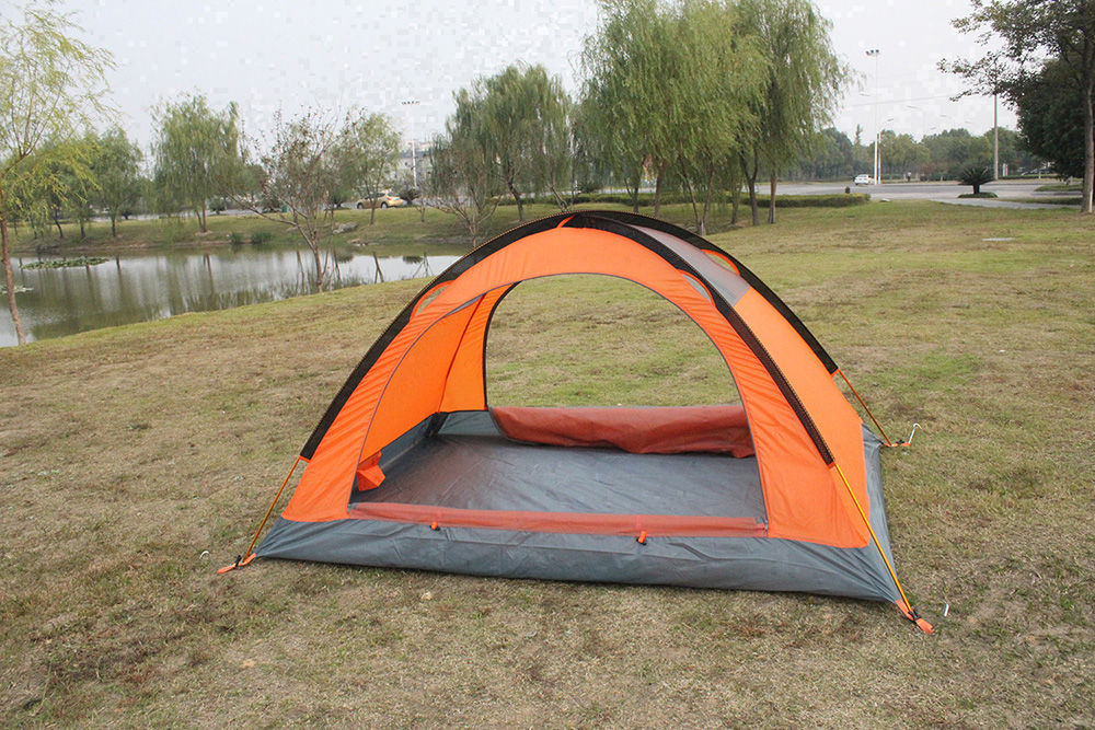 FLYTOP FT - Z2006 Water-resistant Polyester 2-person Camping Tent with PU-coated Layer