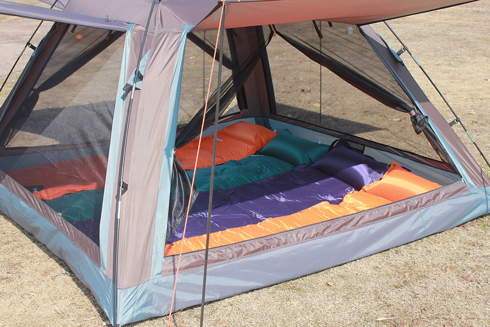 FLYTOP Water-resistant Polyester 4-person Camping Tent with Thickened PU-coated Layer
