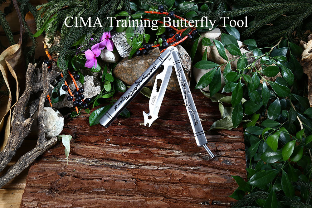 CIMA HB 440C Stainless Steel Training No Edge Folding Butterfly Tool