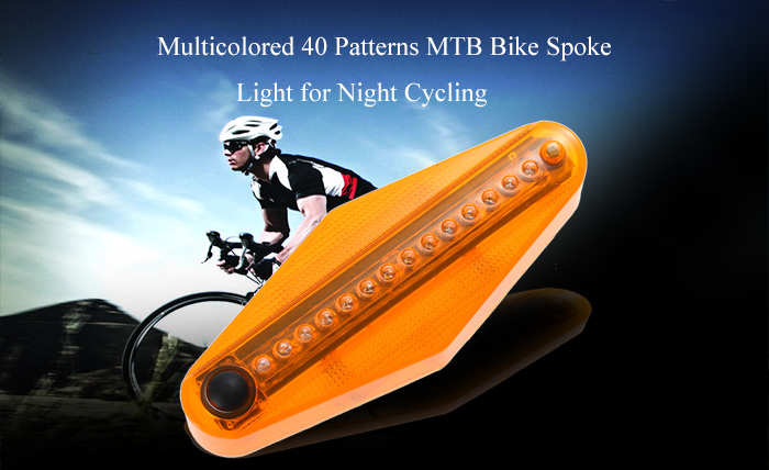 Multicolored 40 Patterns MTB Bike Spoke Light for Night Cycling