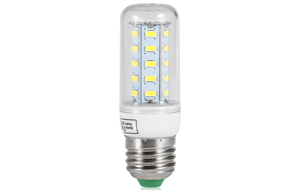 E27 36 x SMD 5730 LED 18W 1020Lm Corn Light with Lamp Shade ( Pure White Light 220V )
