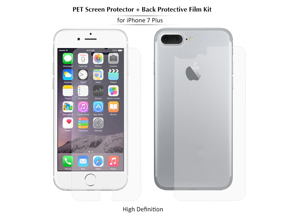 ENKAY PET HD Screen Protector + Back Protective Film for iPhone 7 Plus High Transparency