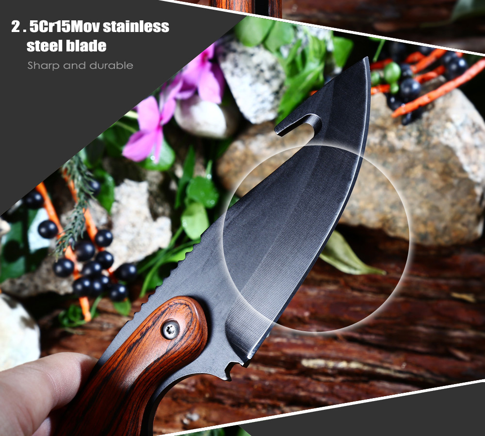 CIMA CJ02 Fixed Blade Knife with Bottle Opener / Rope Cutter / Hex Wrench