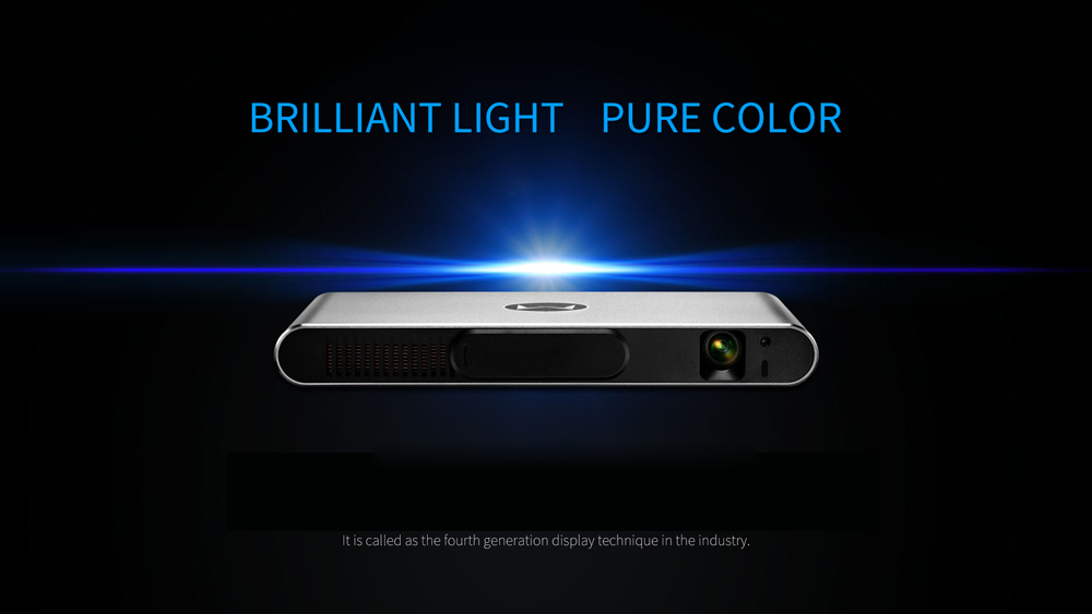 Xming M1 Projector 3000 Lumens 1280 x 800 Pixels Bluetooth 4.0 Dual Band WiFi Android 4.4 Media Player