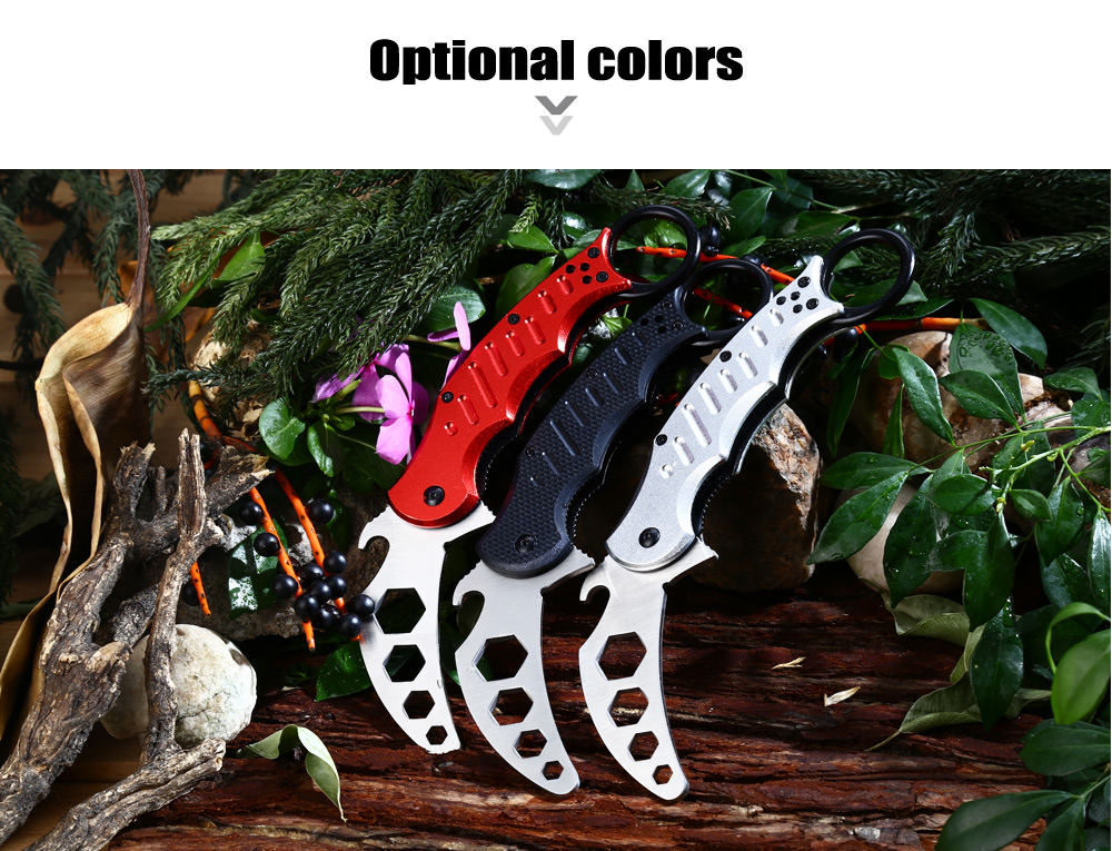 Multi-functional Dull Blade Folding Claw Knife with Hex Wrench / Bottle Opener Function