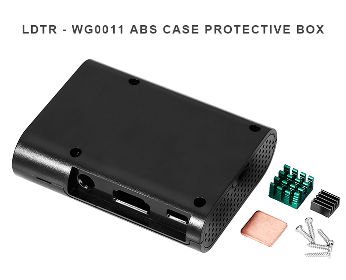 LDTR - WG0011 Protective ABS Shell Case Box with Heat Sink for Raspberry Pi 3 Model B / 2B / B +