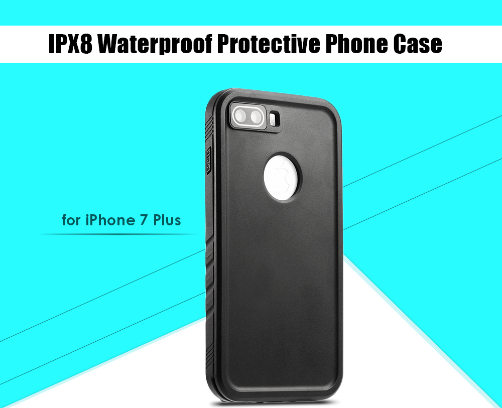 IPX8 Waterproof Protective Phone Case for iPhone 7 Plus Anti-shock Dust-proof Mobile Shell