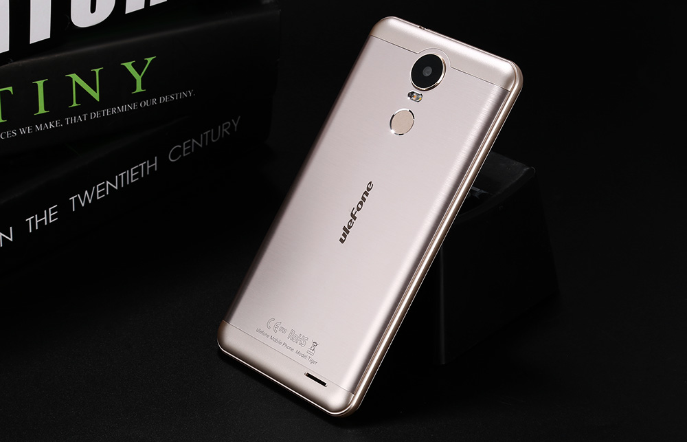 Ulefone Tiger Android 6.0 5.5 inch 4G Phablet MTK6737 Quad Core 1.3GHz 2GB RAM 16GB ROM Fingerprint Scanner GPS Bluetooth 4.0