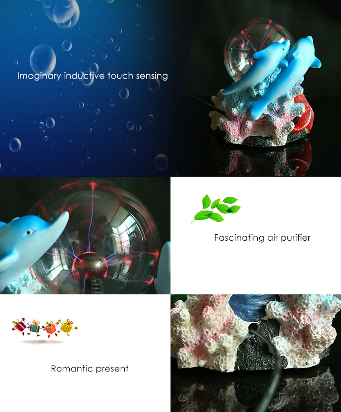 Inductive Touch Magic Ball Novelty Toy with Neutralizing Anion for Air Purification Decoration