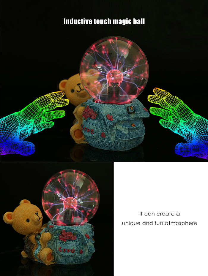 Inductive Touch Magic Ball Novelty Gift with Neutralizing Anion for Air Purification Decor