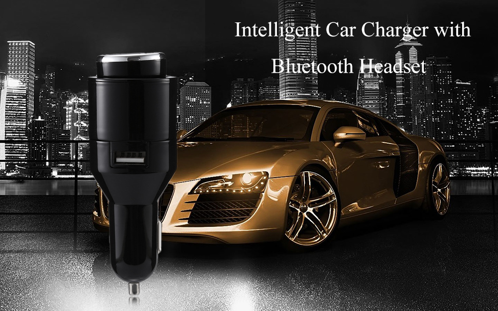 Intelligent 5V / 2.4A Car Charger with Bluetooth Headset