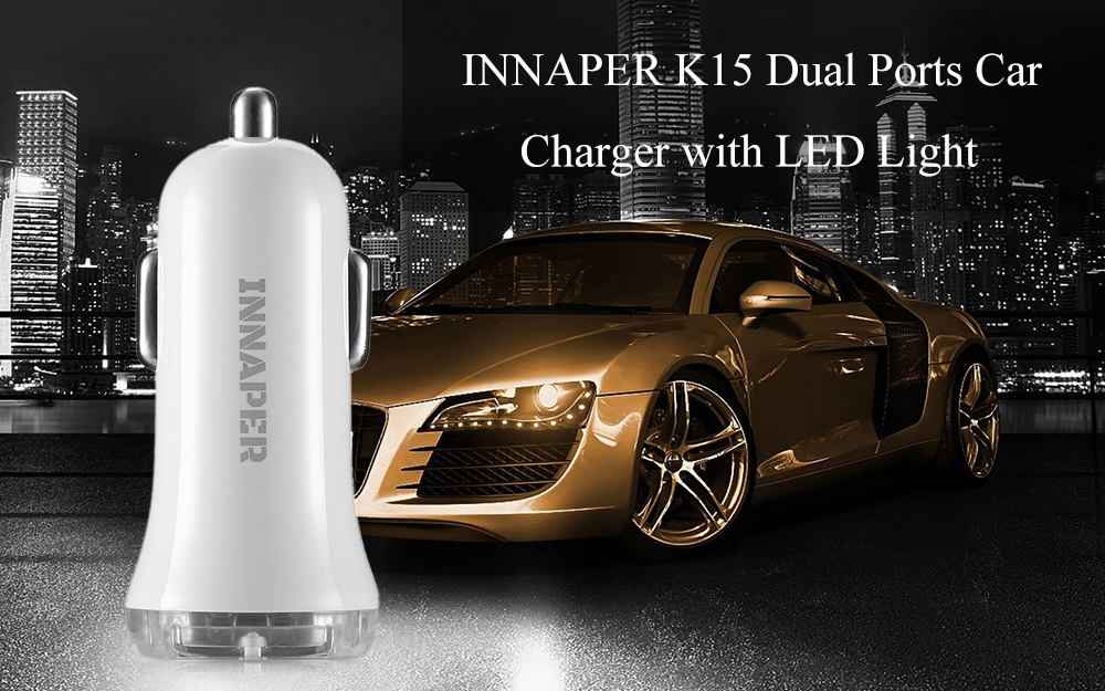 INNAPER K15 Dual 3.0A Ports Car Charger with LED Light
