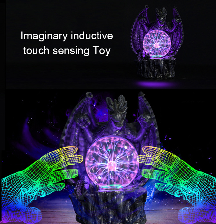 Inductive Touch Magic Ball Novelty Toy with Neutralizing Anion Air Purification Function