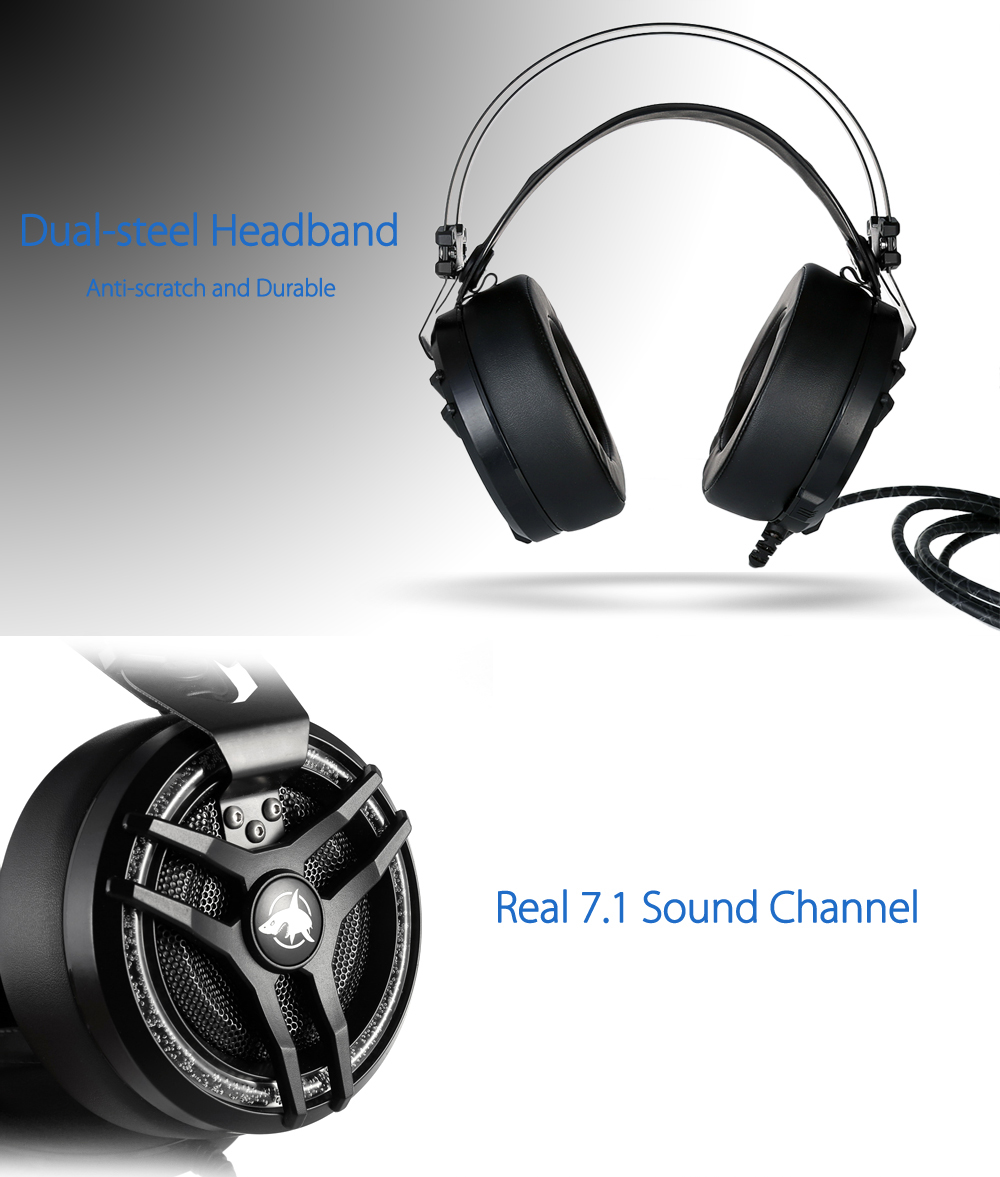 Game Headphones 7.1 Sound Channel