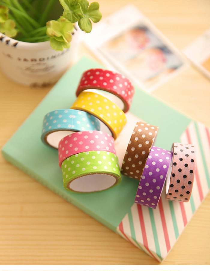 10PCS Paper Adhesive Tape Office / Student Supplies