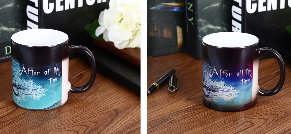 Ceramic Heat Sensitive Color Changing Mug for Gifts