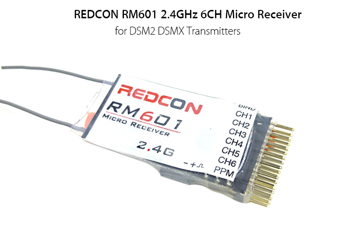 REDCON RM601 2.4GHz 6CH Micro Receiver Compatible with DSM2 DSMX Transmitters