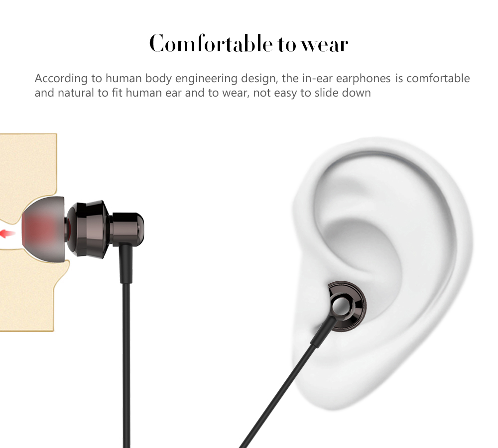 New Bee NB - L1 MFi Certification In-ear Stereo Earphones for iPhone 7 / 7 Plus with Microphone Volume Control