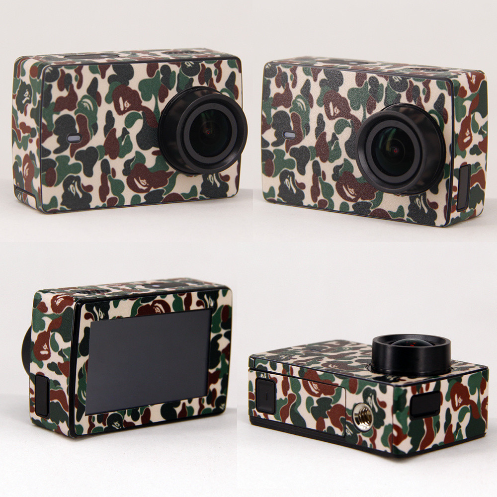 Colorful Protection Stickers for YI II 4K Action Camera